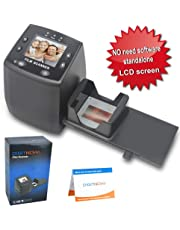 DIGITNOW!High Resolution 135 Film/Slide Scanner, Slide Viewer and Convert 35mm Negative Film &Slide to Digital JPEG Save into SD Card, with Slide Mounts Feeder No Computer/Software Required.