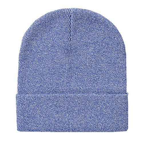 Home Prefer Classic Soft Warm Knitted Hat for Toddlers Boys Skull Beanies Kids Winter Hat Blue, (Classic Skull Cap)