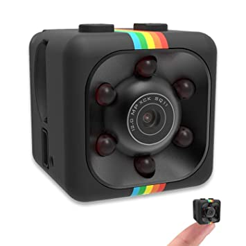 Minicámara HD con visión nocturna, cámara de seguridad oculta con detección de movimiento y visión