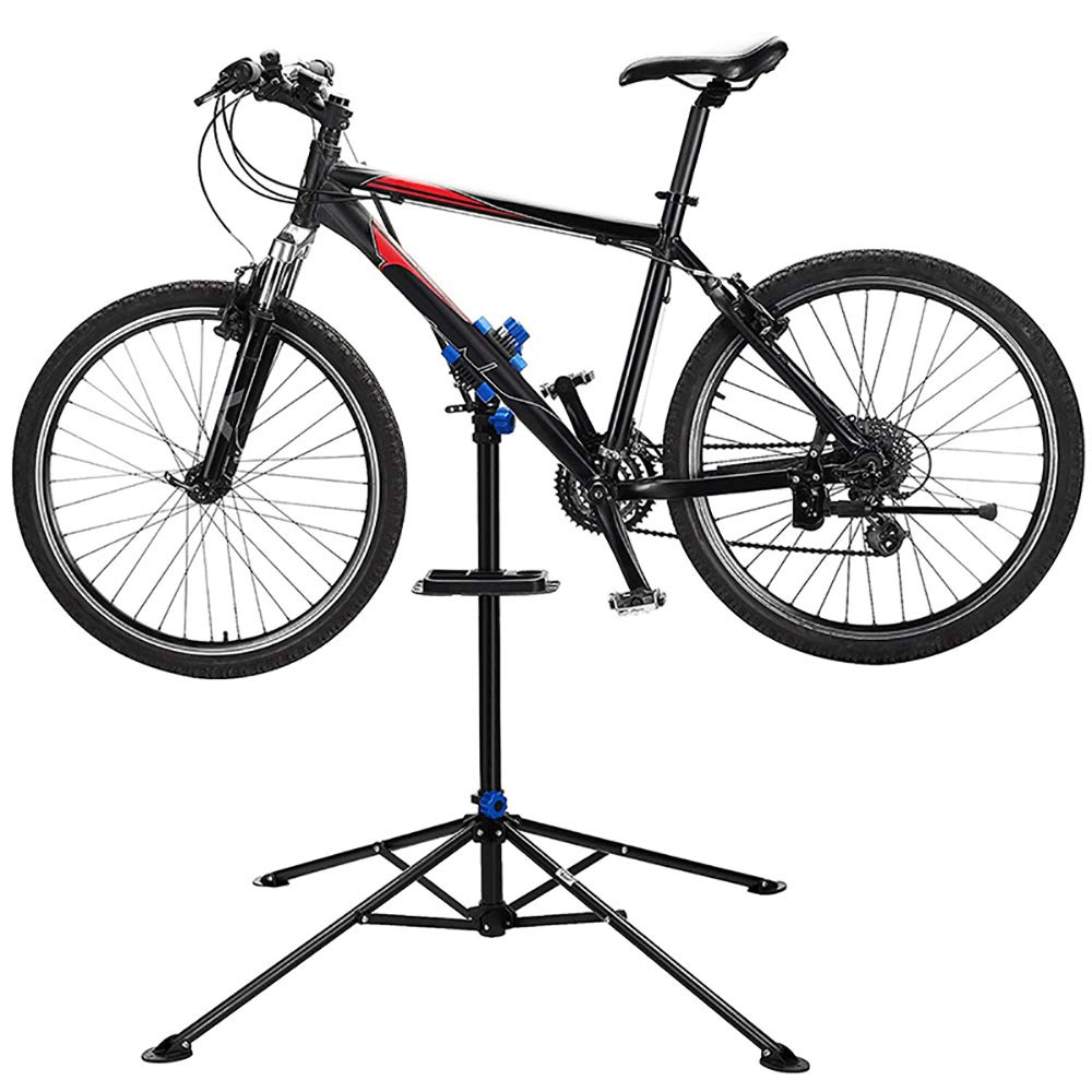 atliprime Mountain Bike Adjustable Height Repair Stand Rack Foldable Cycle Bicycle Workstand Home Pro Mechanic Maintenance Tool