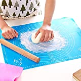 #2: Silicone Baking Mat Pastry Mat No Stick for Rolling with Measurements, Liner Heat Resistance Pad Pastry Board, Reusable Baking Mat for Housewife