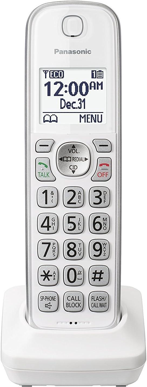 Panasonic KX-TGDA50W1 Dect 6.0 Digital Additional Cordless White Handset for KX-TGD53x Series (Renewed)