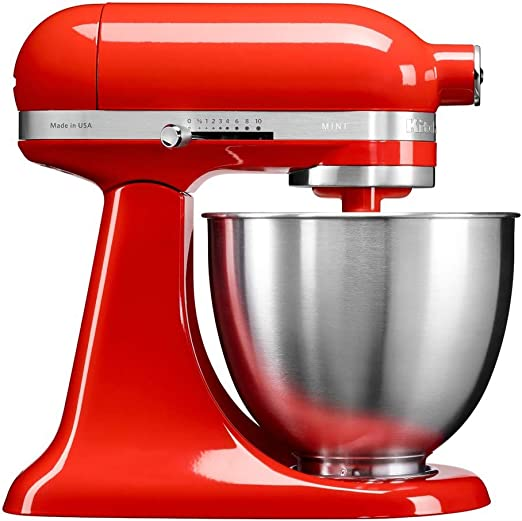 KitchenAid Mini - Robot de cocina (3,3 L, Rojo, palanca, 200 RPM ...