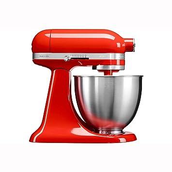 KitchenAid Mini 250W 3.3L Rojo - Robot de cocina (3,3 L, Rojo, palanca, 200 RPM, 1,219 m, CC): Amazon.es: Hogar