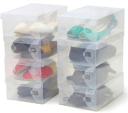 ZENUTA 10 x Cajas de Zapatos Transparente Plástico Caja Guarda ...