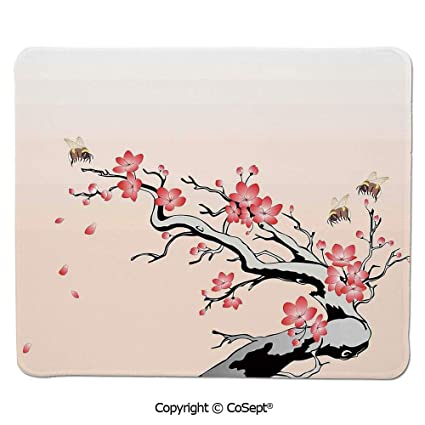 Amazing Amazon Com Mouse Pad Flowering Cherry Branch With Flying Best Image Libraries Sapebelowcountryjoecom
