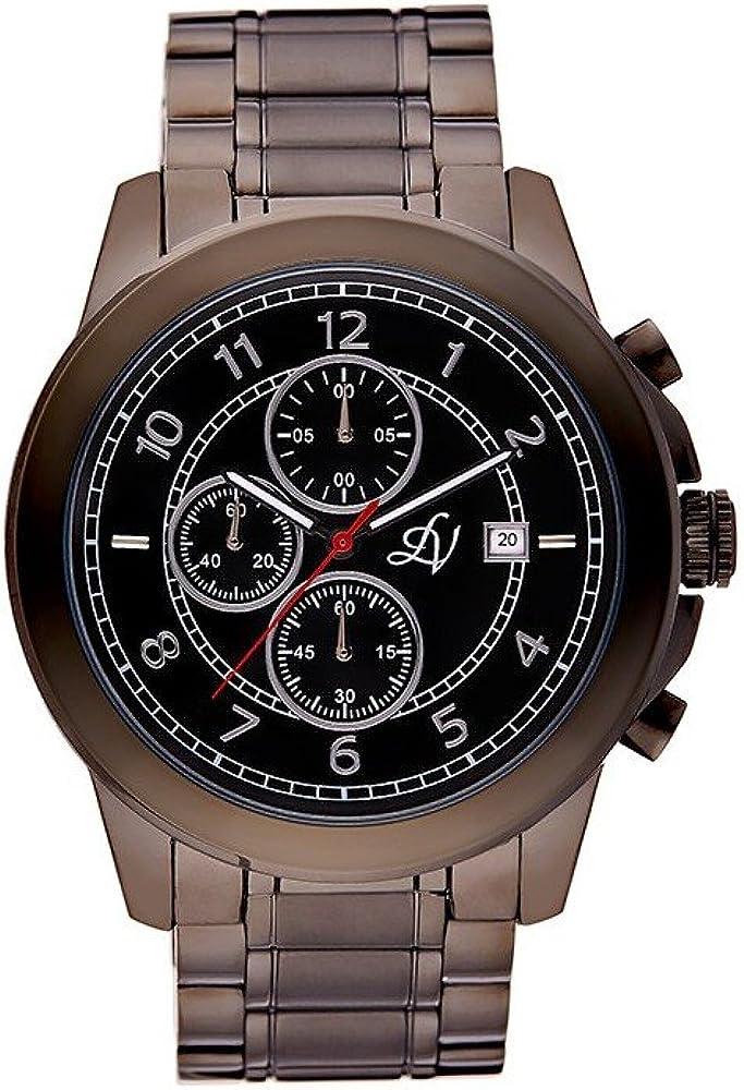 Louis Villiers Reloj Analógico para Unisex Adultos de Cuarzo con Correa en Acero Inoxidable LV1015