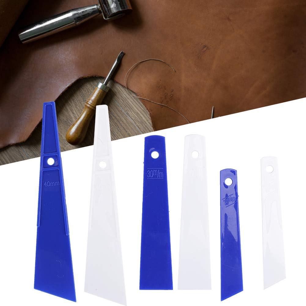 Delaman 6Pcs Herramienta de pegamento de pl/ástico Smear Glue Scraper Herramientas de artesan/ía de cuero Accesorios de costura hechos a mano para el hogar DIY Herramienta de pegamento de pl/ástico