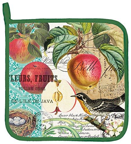 Michel Design Works Cotton Potholder, Sweet Apple - Apple Pot Holders