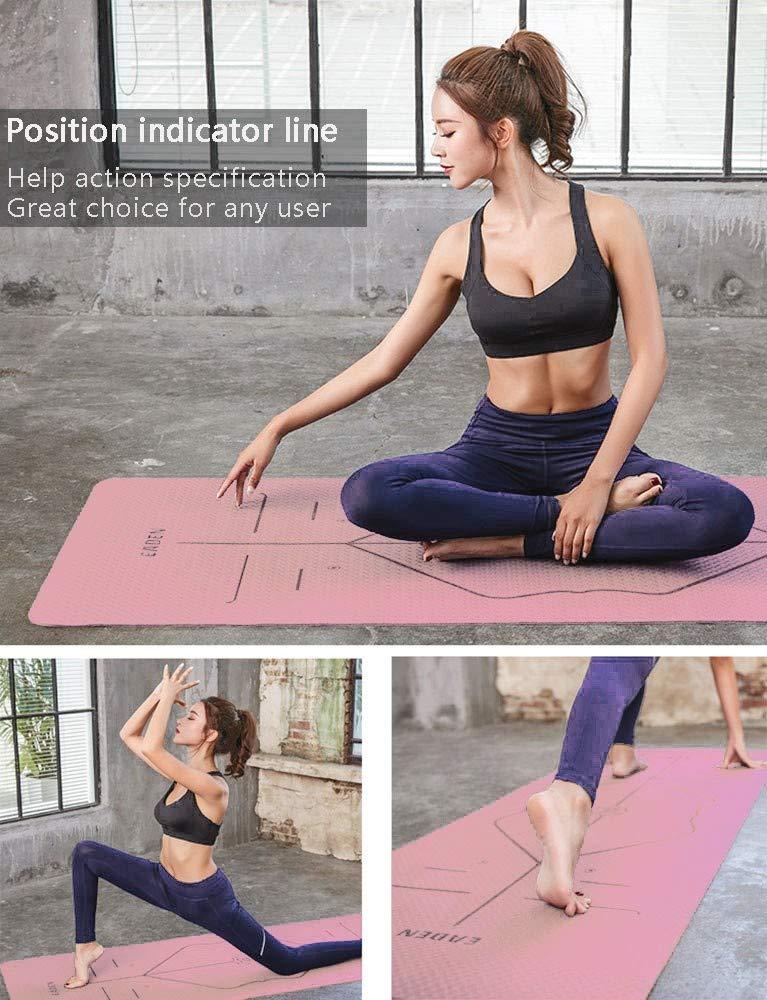 YSHUAI Profesional Colchoneta Yoga Esterilla TPE Jade Eco ...