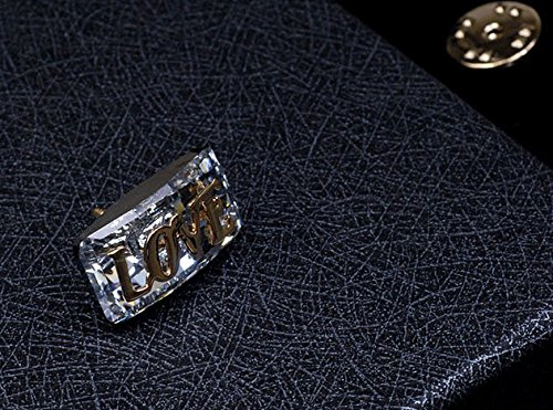 40831 Austrian crystal brooch pin pin rectangular scarf hat lovers send Valentine's Day Gift Austrian Crystal Hat Pin
