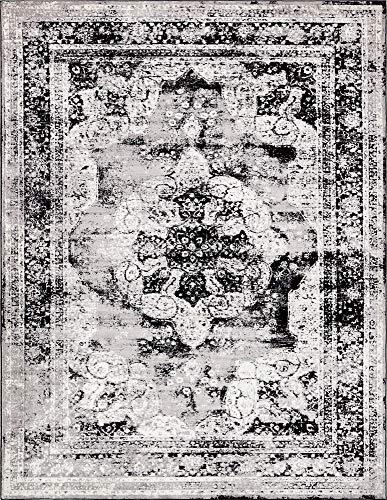 (Unique Loom 3137794 Sofia Collection Traditional Vintage Beige Area Rug, 9' x 12' Rectangle, Black)