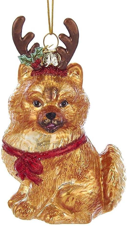 Pomeranian Noble Gems Glass Ornament