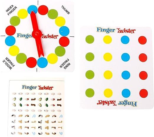 Dabixx Juego de Mesa Finger Twister, Divertido Juego de Mesa Finger Twister Mini Mesa de Juguete Favor de Fiesta Regalo de San Valentín: Amazon.es: Hogar