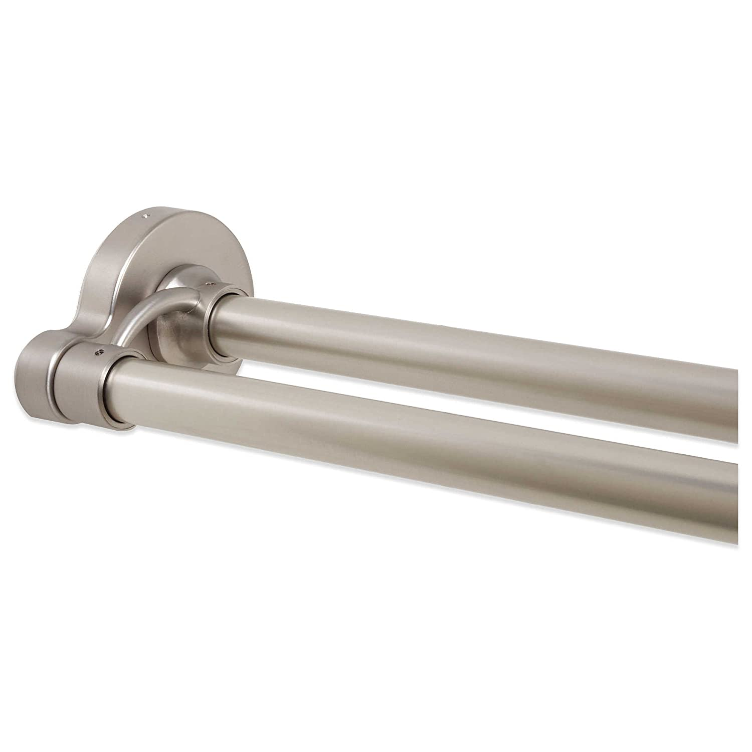 Amazon Decorative Adjustable Aluminum 72 Inch Double Straight Shower Rod In Brushed Nickel Imported 1 Home Kitchen