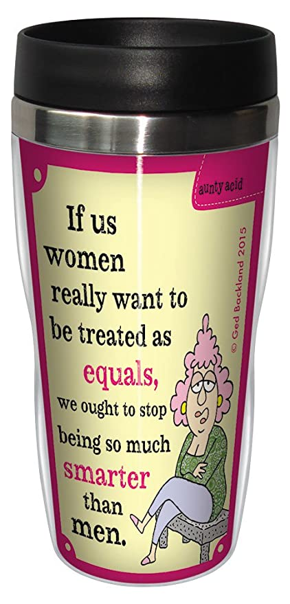 Amazon funny aunty acid travel mug stainless lined coffee funny aunty acid travel mug stainless lined coffee tumbler 16 ounce women as equals m4hsunfo