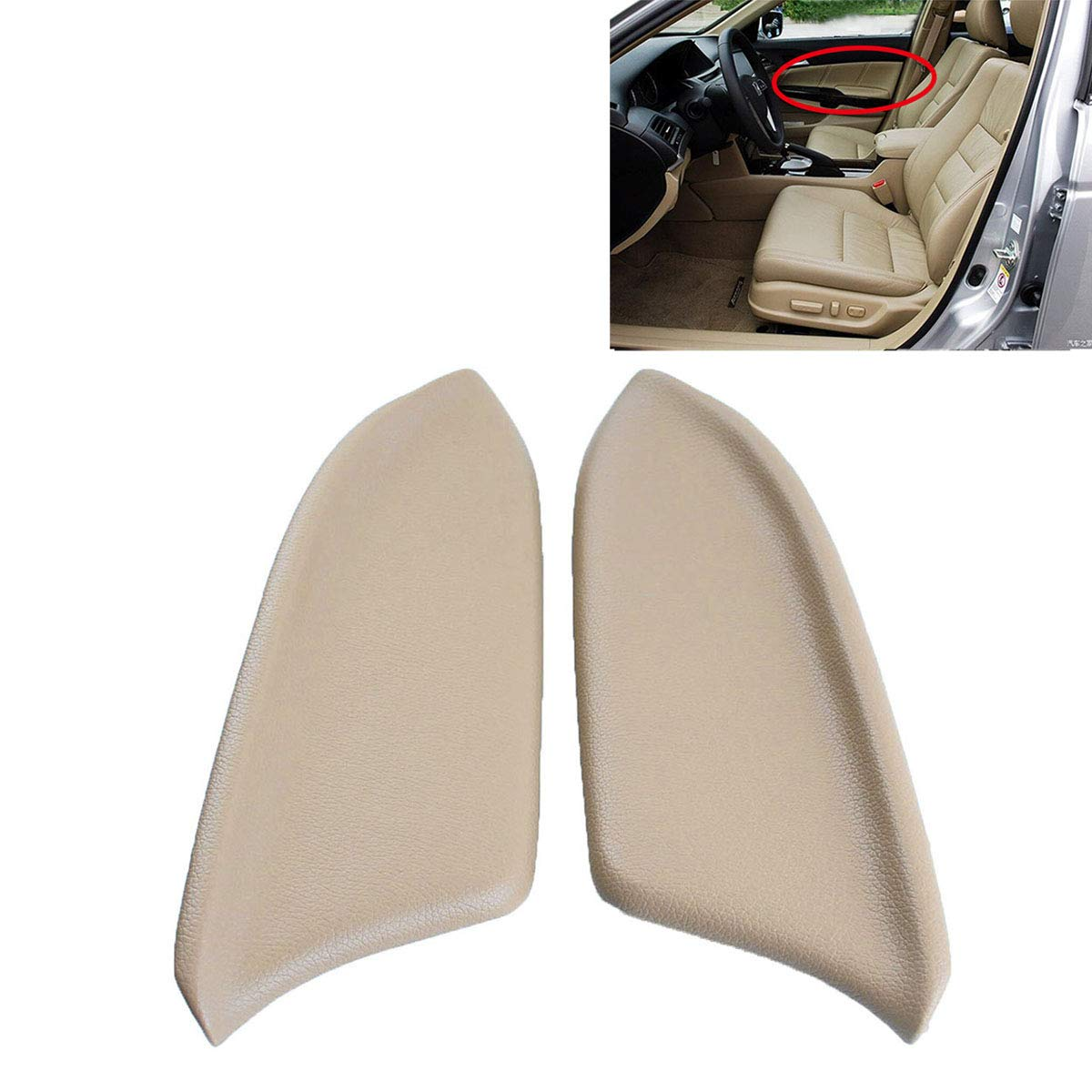 Only the Leather Parts Not include the Lid Ezzy Auto Beige Armrest Vinyl Front Door Panels Armrest Lid for 2008-2012 Honda Accord