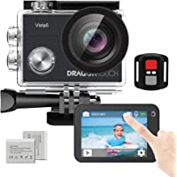 Dragon Touch Vista 5 Action Camera Native 4K 20MP Ultra HD Touch Screen EIS 4X Zoom Remote Control WiFi Waterproof…