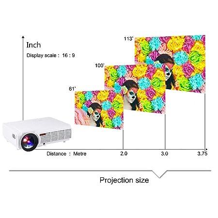 Proyector, LED LCD 1280 * 800P USB 4.0 Hdmibluetooth Tamaño de ...