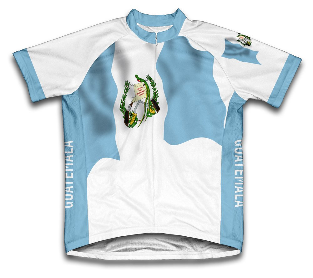 Guatemala Drapeau à manches courtes Maillot de cyclisme pour femme Large Blanc - blanc   B00EDKQ5V6