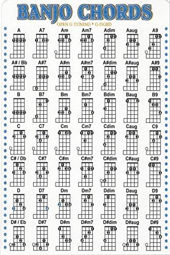 Poster DNOVING Stylish Art Print Banjo Chord Chart Pattern Print Wall Decorative Wall Poster 20-Inch By 30-Inch