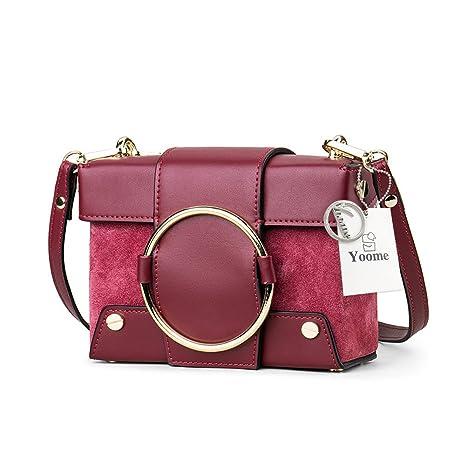 Yoome Mini bolso de mano de cadena para mujer remaches embrague cruzado bolso de hombro caja