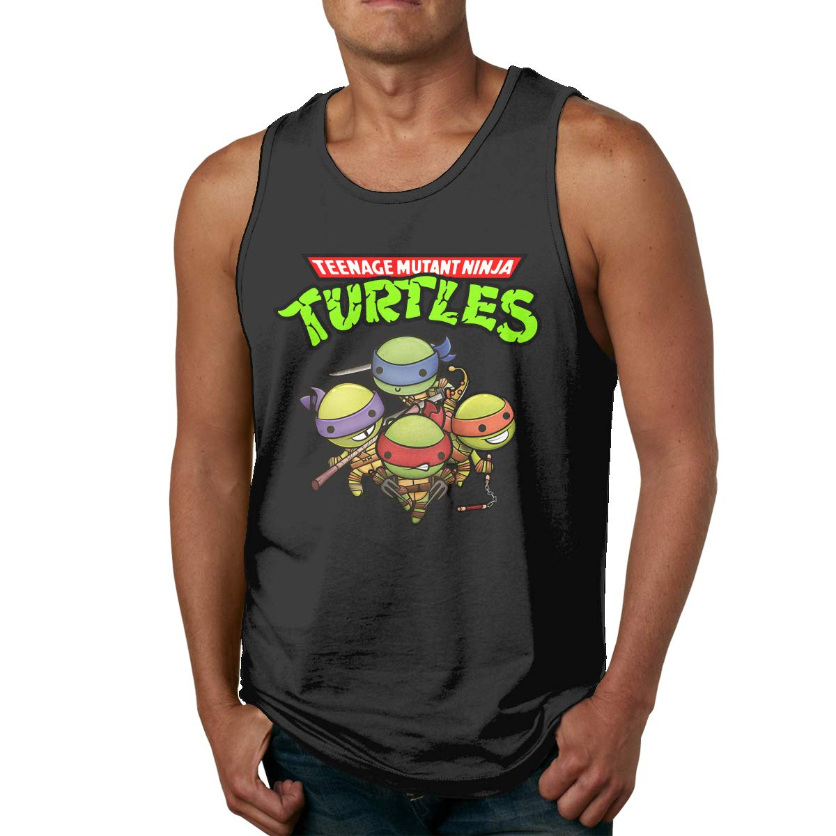 JChesterton Teenage Mutant Ninja Turtles Group Mens Tank Top T-Shirt Black