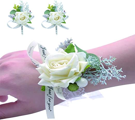 High Quality Bride Bridesmaids Bouquet Rose Wrist Flowers Bracelet Wedding Decor