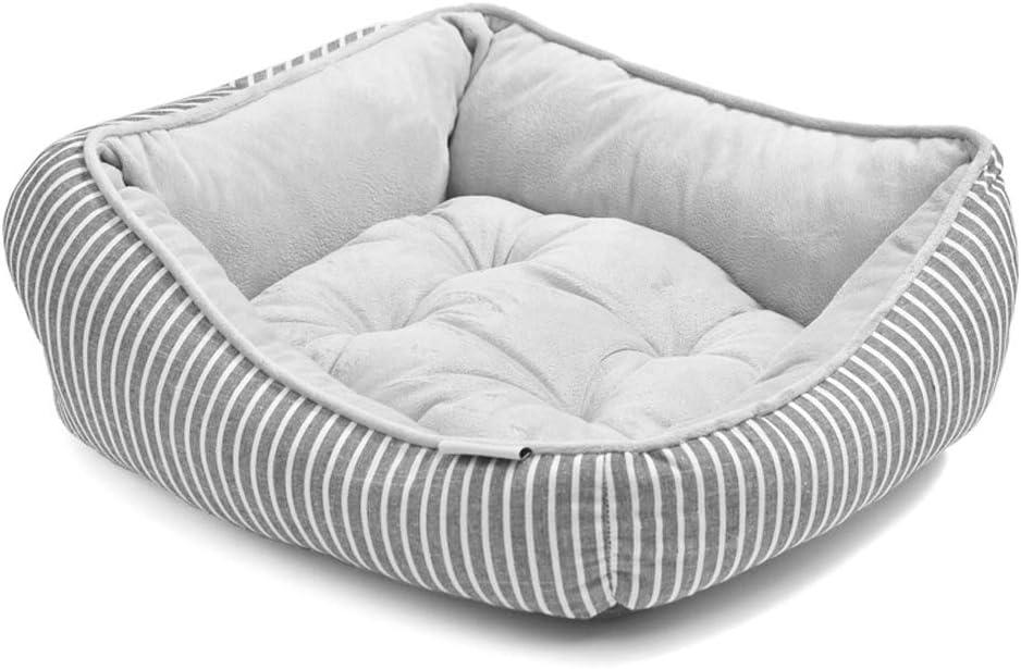 ビズアイ ペットネスト猫リターケンネル陽性と陰性テディ犬ケンネル犬ベッド秋と冬の季節一般正方形のネストセクション - グレー 子猫の子犬のベッド (Size : 65*55*15cm)