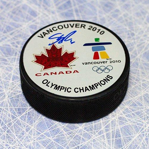 Gold Autographed Puck (Shea Weber Team Canada 2010 Olympic Gold Autographed Puck)