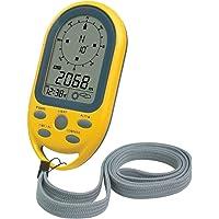 Technoline EA 3050 kompas met hoogtemeter, luchtdrukweergave, tijd, weergave van weertrends, geel, 5,4 x 10,3 x 1,7 cm