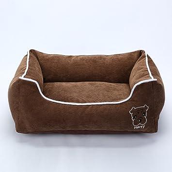 La Vie - Sofá cama para mascotas suave y acogedor, cama para perro con funda