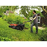 "BLACK+DECKER 40V MAX Cordless Lawn Mower, 16-Inch (CM1640) 12 Height Adjust- 6 settings, with a height of cut between 1-1/10"" and 3-1/10"" Includes (2) 40V Max Lithium Batteries Folding handles for easy & convenient storage"