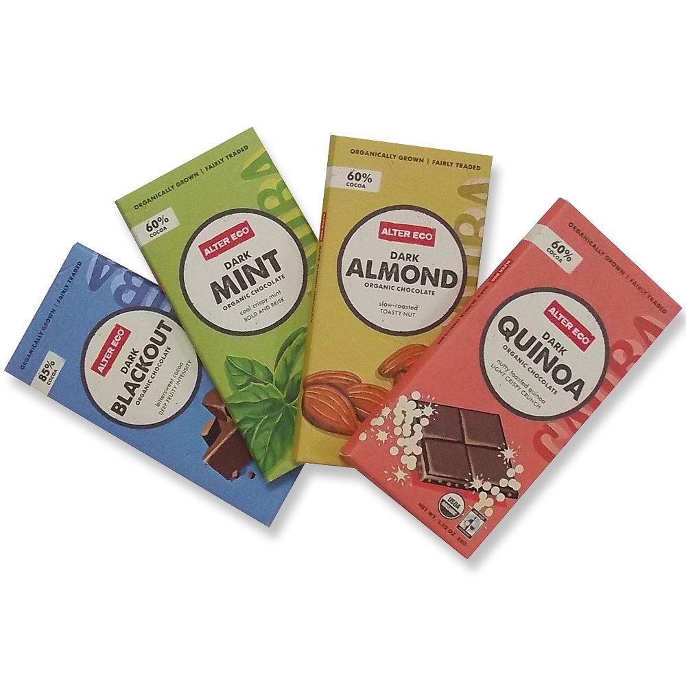 Alter Eco - Organic Chocolate Bar Bundle 4 Pack