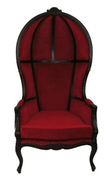 Antique Downton Dome Hearth Porters Chair Red Velvet Balloon Bonnet Canopy - Amazon.com: Antique Downton Dome Hearth Porters Chair Red Velvet