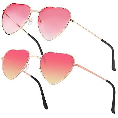 Haichen Gafas de sol forma de corazón Gafas hippie para ...