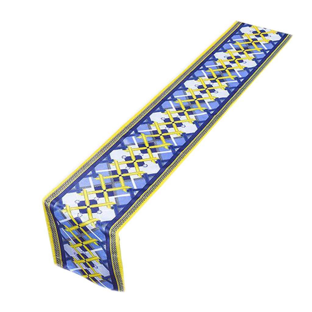 Unbekannt Grid Tabelle Flagge Plüsch Blume Abbildung Blau Blau Blau Retro Mode Einfache Nordic Kaffee Bett Hochzeit Hotel Bankett Dekoration 30 cm  160 cm MUMUJIN (größe : 240cm) 673a5d