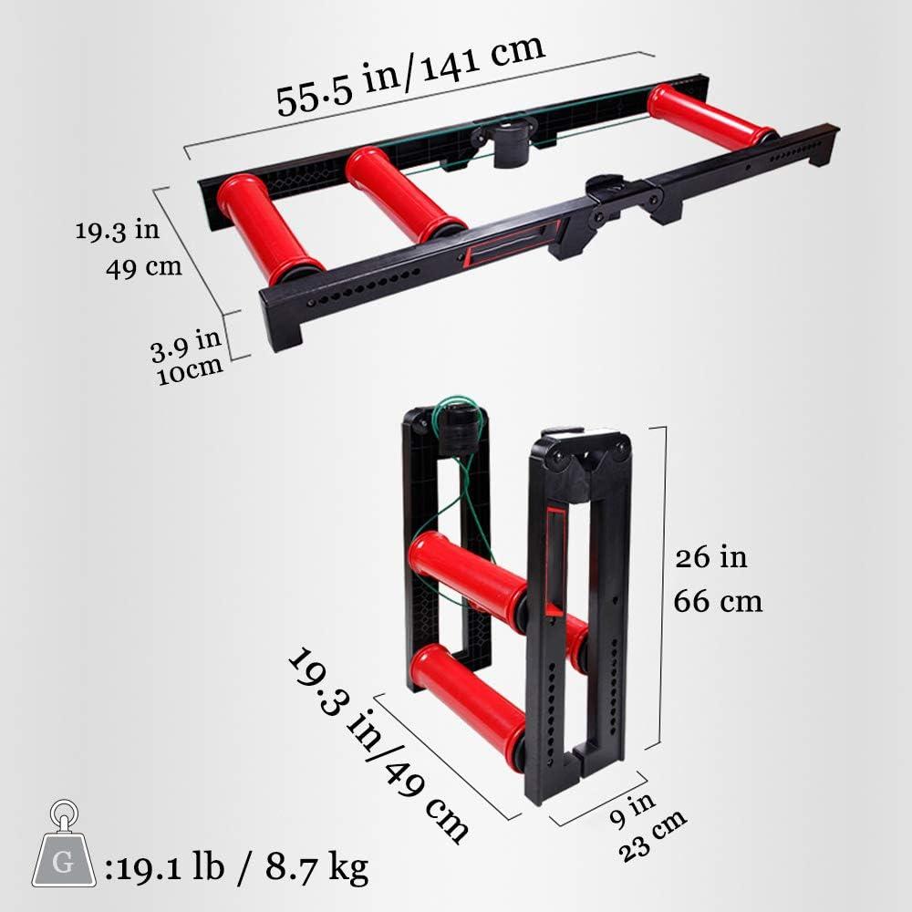 Rouleau TSSM Route Formateur v/élo entra/înement v/élo Balance Trainer R/ésistance Exercise Fitness Machine Pliable Station dentra/înement /à v/élo r/églable pour Jardin int/érieur