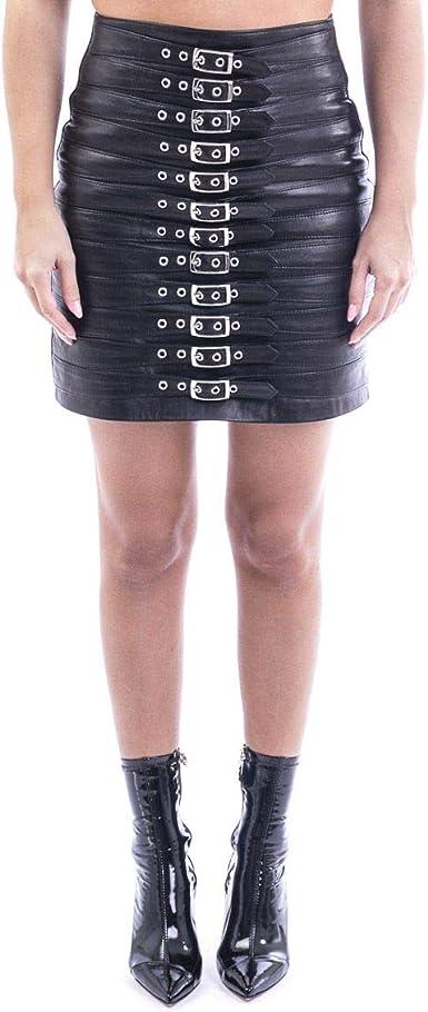 MANOKHI Fashion A0000033 Falda Negra para Mujer | otoño-Invierno ...