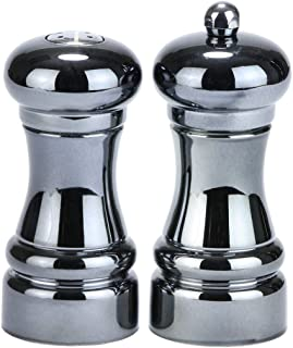 product image for Chef Specialties Midnight Pepper Mill and Salt Shaker Set, 4.25 Inch, Black Chrome