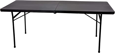 Azuma 6ft Heavy Duty Folding Black Trestle Table Max Load 300 Kilogram Bbq Camping Dining Diy Market Vacuum Moulded Top Locking Legs Portable Indoor Outdoor Use Amazon Co Uk Sports Outdoors