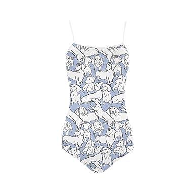 17d9e8e1a0 Amazon.com: Women's Swimwear Drew Dachshund Nylon Women's Swimsuit ...