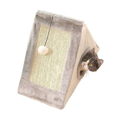 Amazon.com: DYYTRm - Cama cueva para gatos con poste de ...