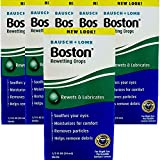 Boston Rewetting Drops for Rigid Gas Permeable Contact Lenses - 0.33 Ounce, 6 Pack