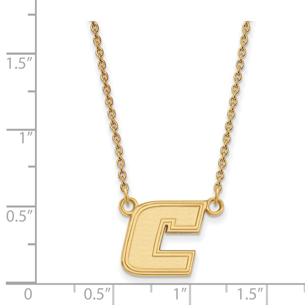 15mm Solid 925 Sterling Silver with Gold-Toned The U of Tenn at Chattanooga Sm Pendant with Necklace