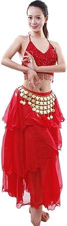 Astage Mujer Danza Disfraz Danza del Vientre Bra Falda Set Indian ...