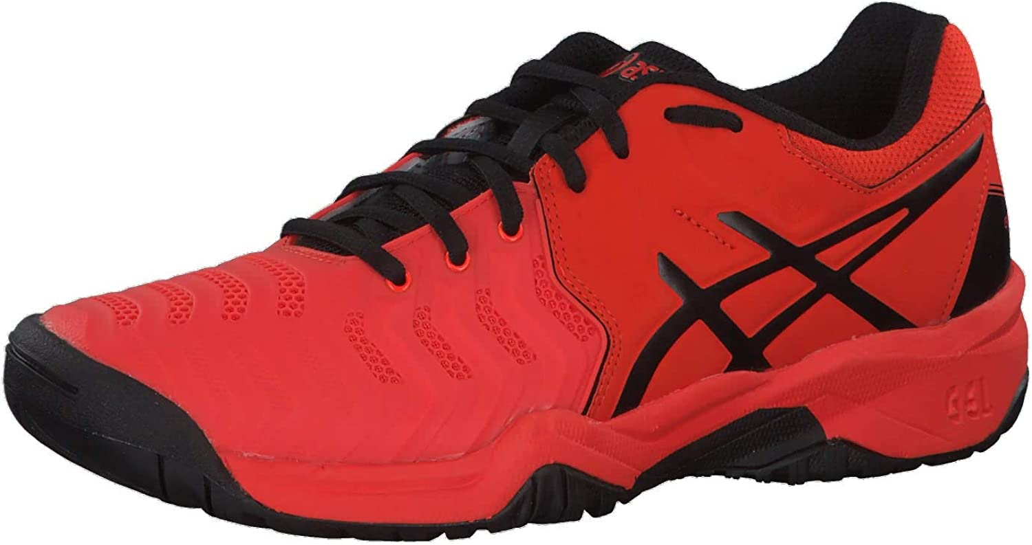 Chaussure Asics Gel Resolution 7 GS Junior Cherry Tomato Black SS19 - 34,5: Amazon.es: Deportes y aire libre