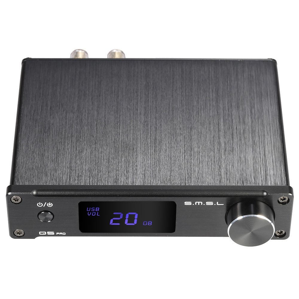ammoon S.M.S.L Q5 pro Mini Portable HiFi Digital 3.5mm AUX Analog/ USB/ Coaxial/ Optical Stereo Audio Power Amplifier Amp with Remote Controller by ammoon