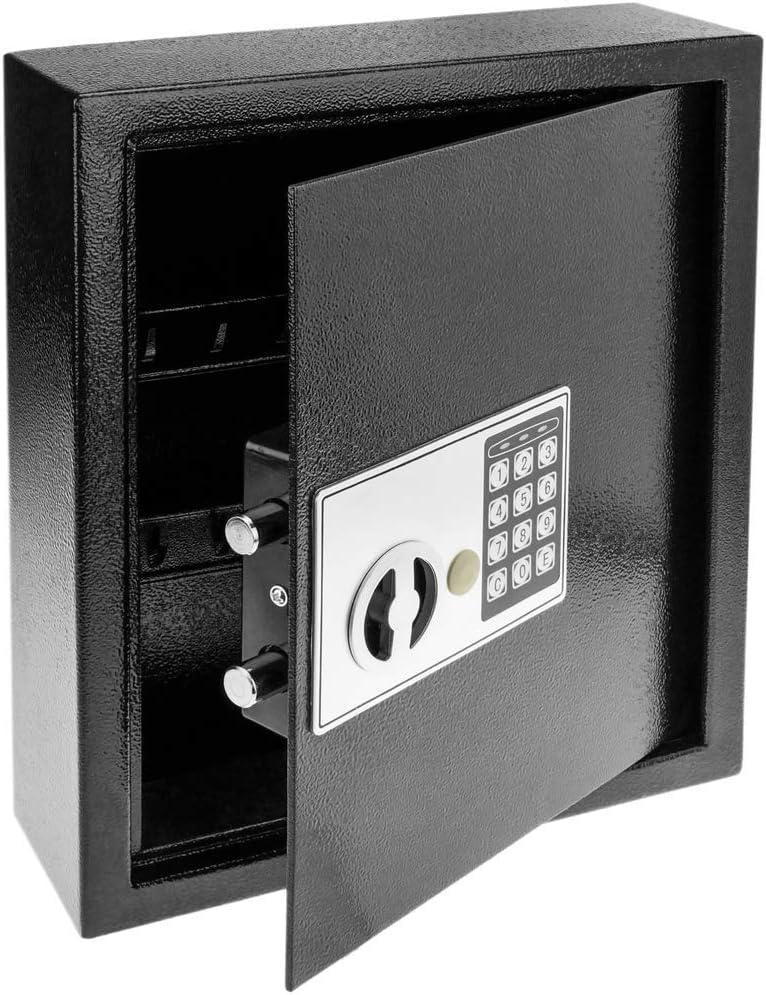 PrimeMatik - Armario de Llaves con 18 Ganchos. Caja Fuerte con código electrónico 30x10x37cm negre: Amazon.es: Electrónica