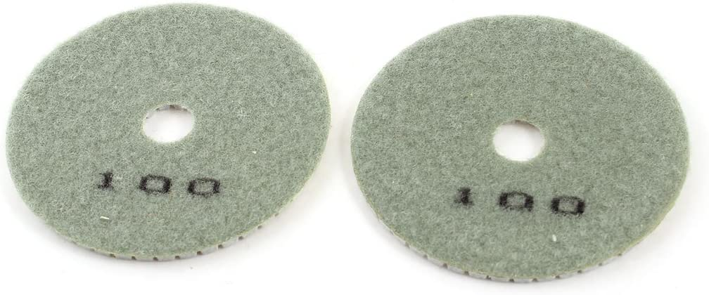 2PCS Sourcingmap a14021800ux0553 Grit 100 4-Inch Tile Stone Diamond Polishing Pads